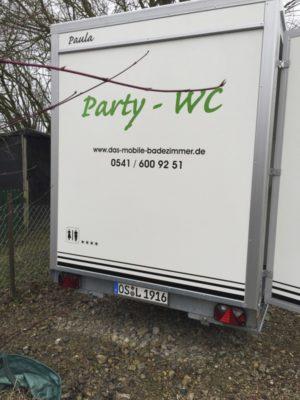 Party WC´s in verschiedenen Größen